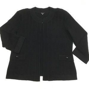 Misook Women's XL Black 3/4 Sleeve Textured Jacket